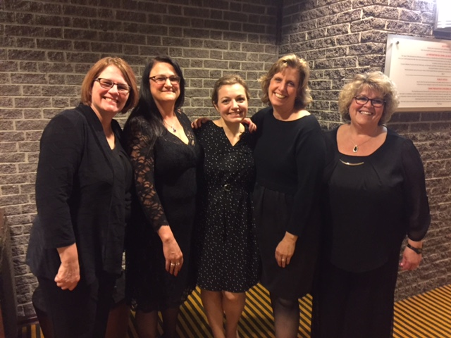 Tricia Piecuch-Nashua, Sue McKinnon-Newfields, Mary Reynolds-Laconia, Lori Radke- Bedford and Betty Ramspott- Sunapee